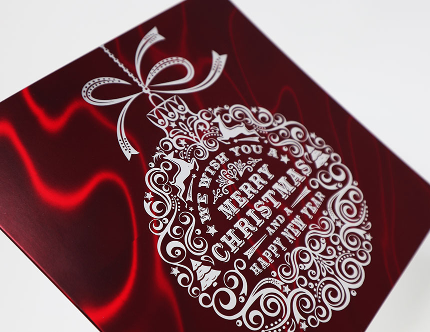 Mirri Lava Red Overprinted With White Ink